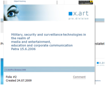 Military, security and survellance technologies in the realm of media and enternainment and corporate communitaion